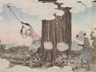 木曽式伐木運材図絵 上 元伐之図もとぎりのず.jpeg